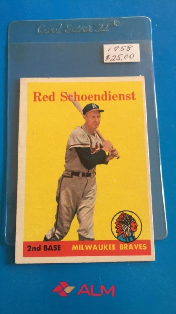 Red Schoendienst 1958 Topps