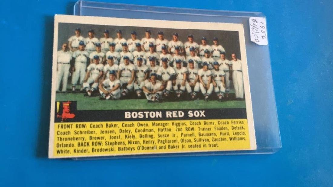 1956 Topps Boston Red Sox team card lot
