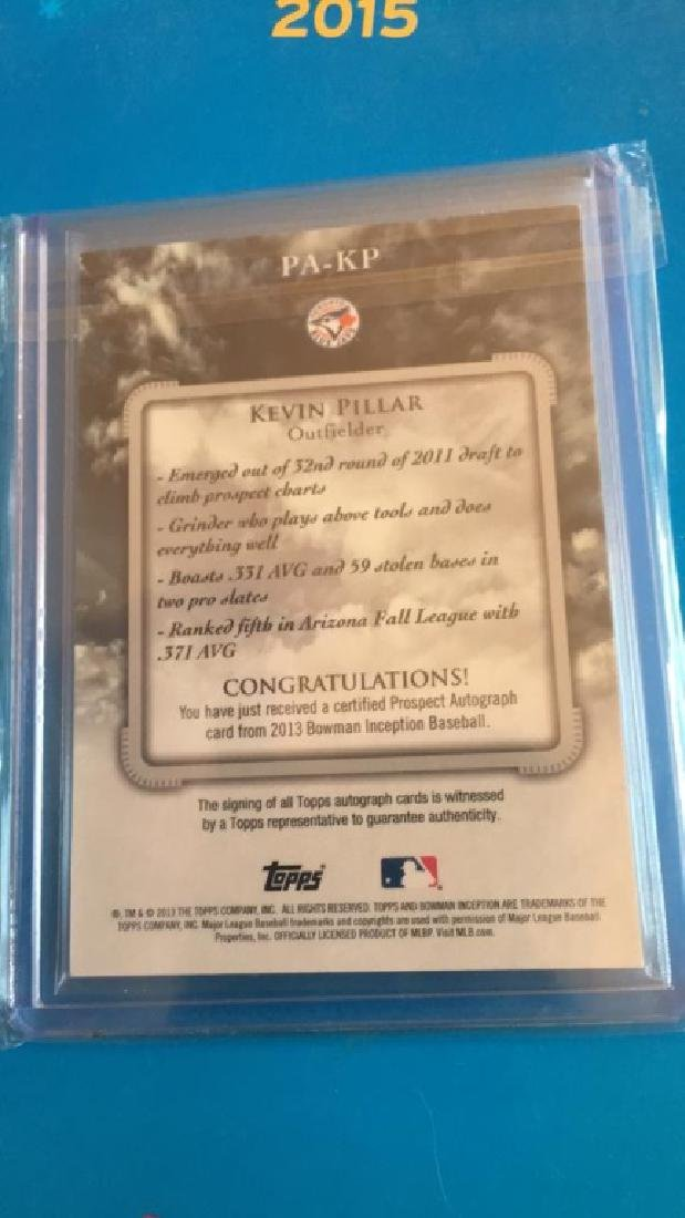 Kevin Pillar 2013 inception auto RC - 2