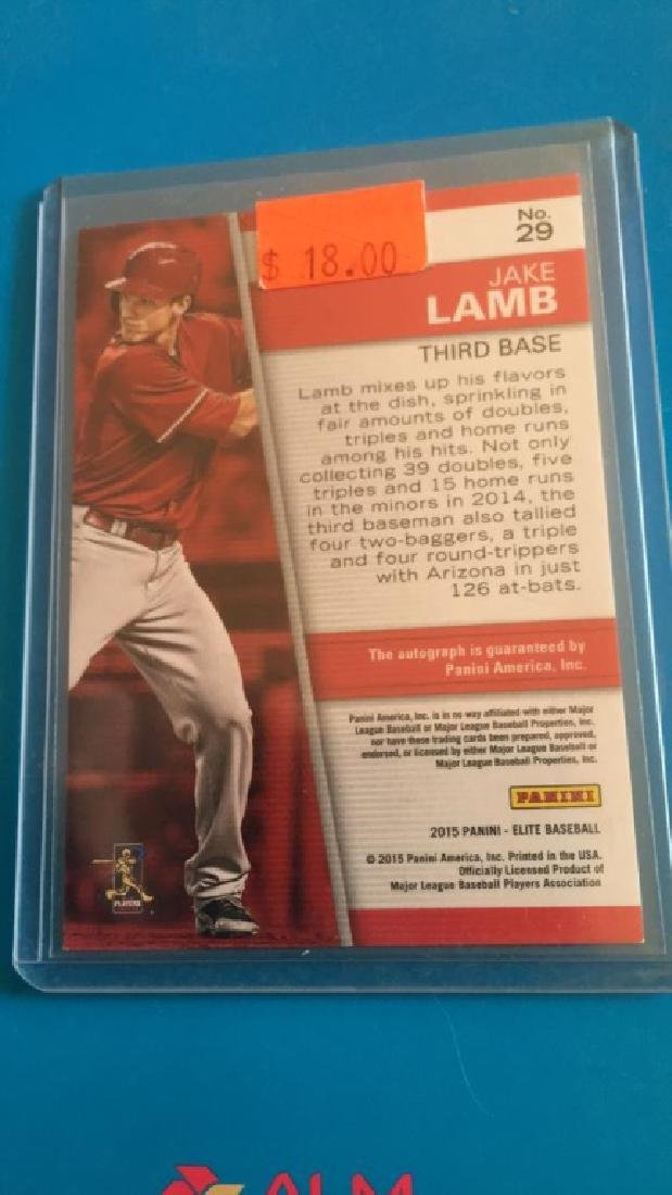 Jake Lamb 2015 elite auto RC /75 - 2