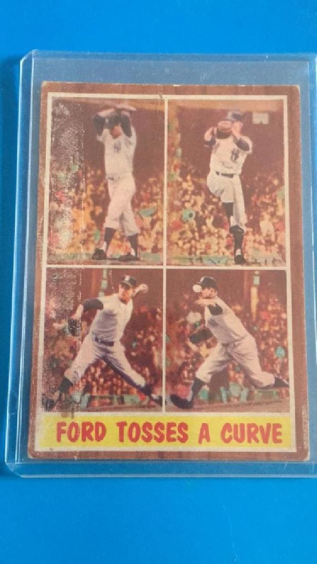 Whitey Ford 1962 Topps tosses a curve