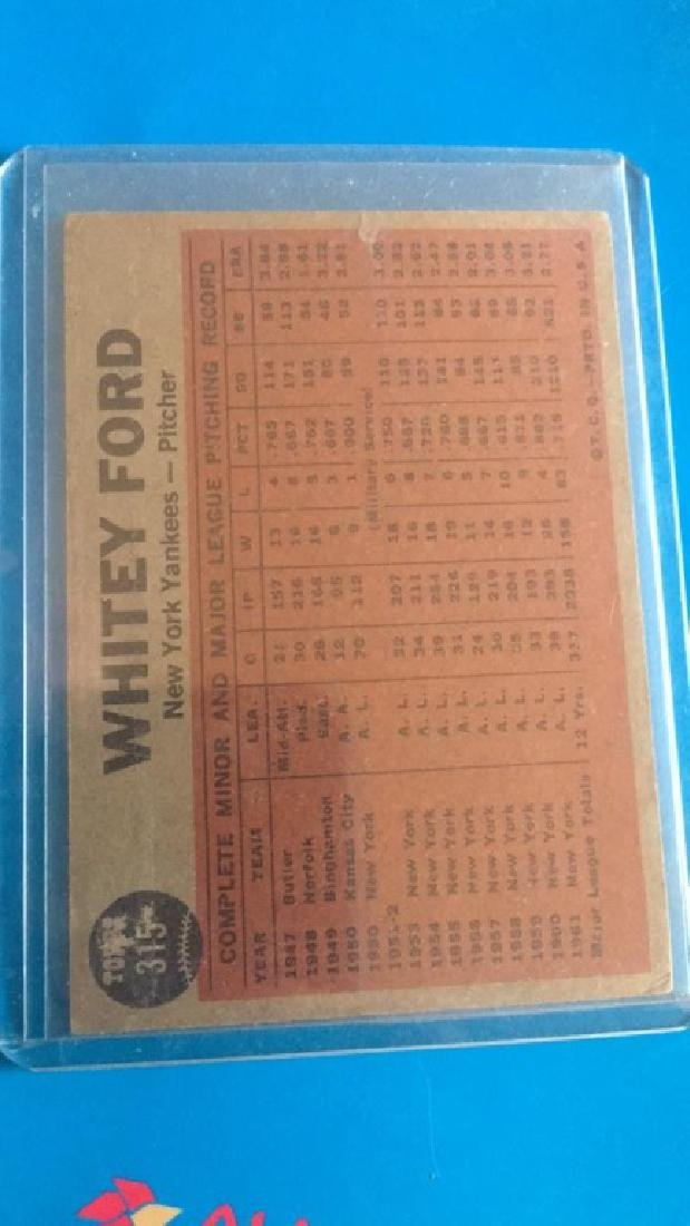 Whitey Ford 1962 Topps tosses a curve - 2