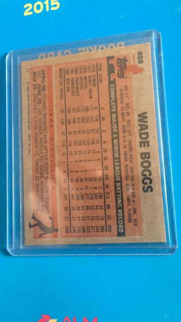 Wade Boggs 1983 Topps RC - 2