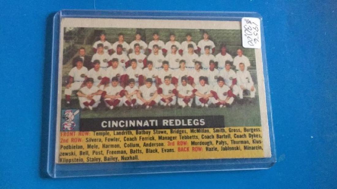 1956 Topps Cincinnati Redlegs team Card