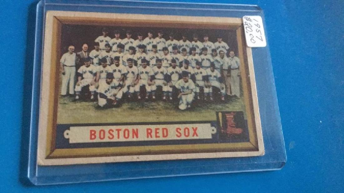 1957 Topps Boston Red Sox Team Card