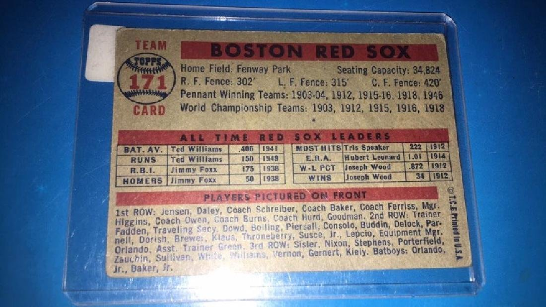 1957 Topps Boston Red Sox Team Card - 2