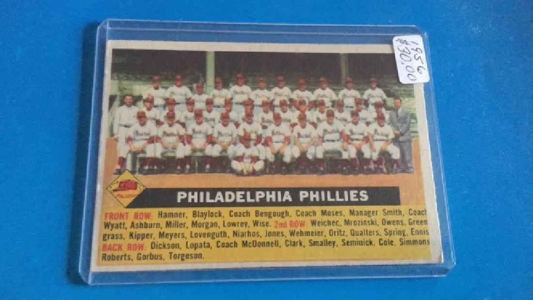 1956 Topps Philadelphia Phillies team Card