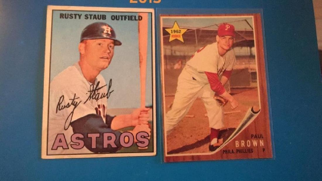 1962 Topps Paul brown RC and 1967 Topps Rusty