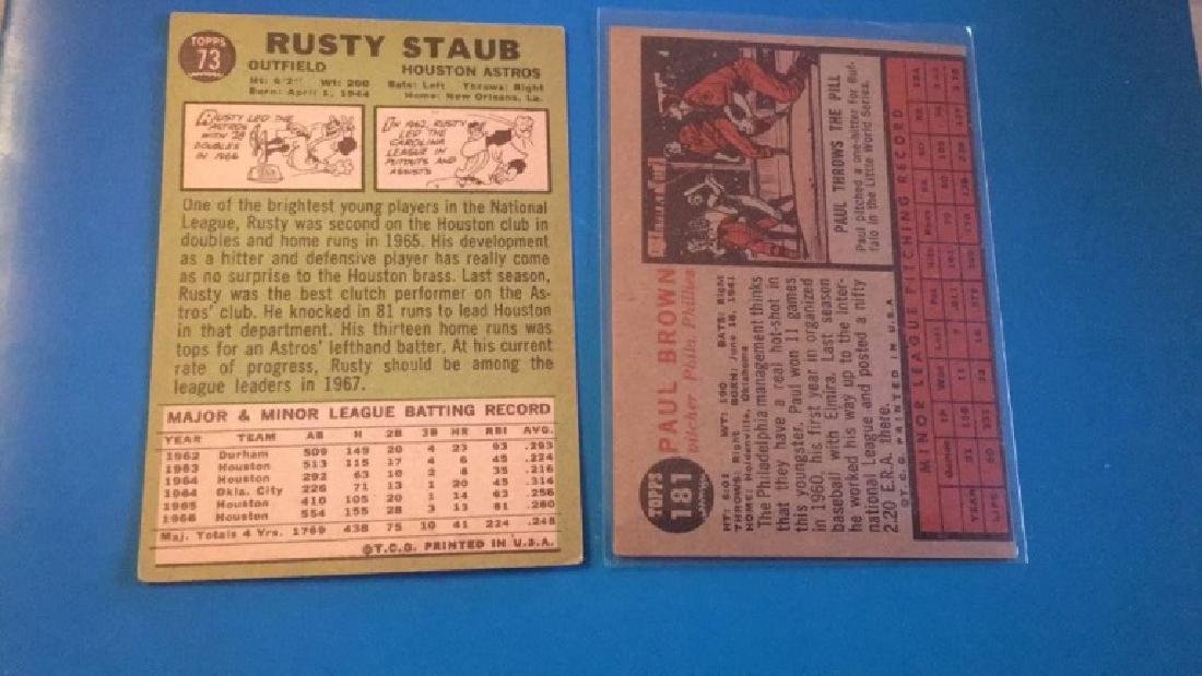 1962 Topps Paul brown RC and 1967 Topps Rusty - 2