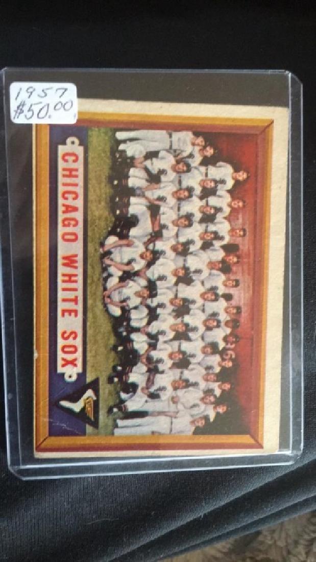 1957 Topps Chicago White Sox Team Card