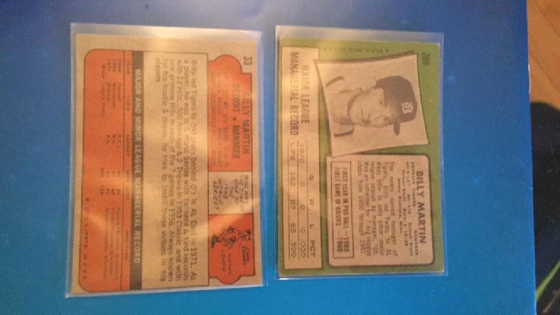 1972 and 1971 Topps Billy Martin both in NRMT - 2