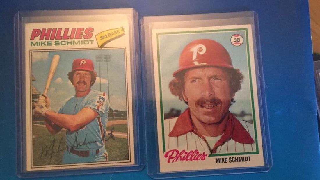 1977 and 1978 Topps Mike Schmidt Lot