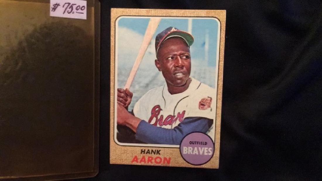 1968 Topps Hank Aaron very nice condition no