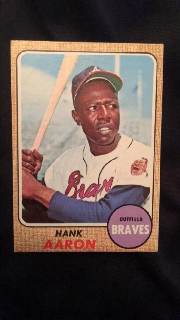 1968 Topps Hank Aaron very nice condition no - 2