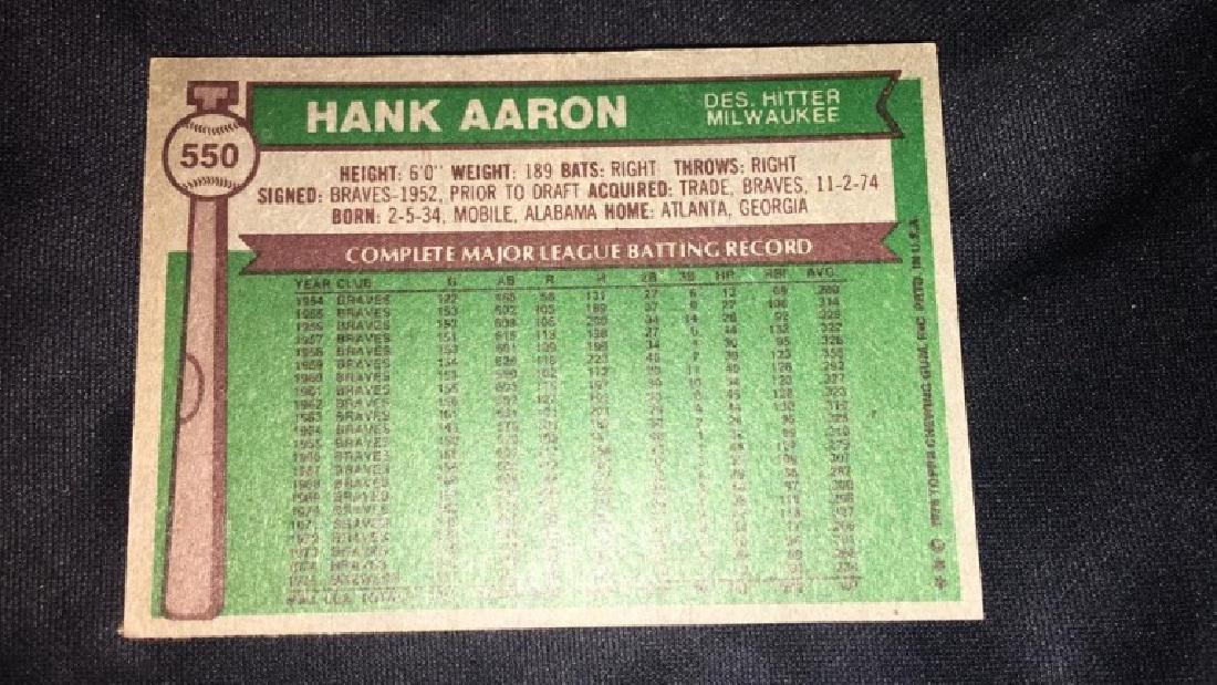 1976 Topps Hank Aaron - 2