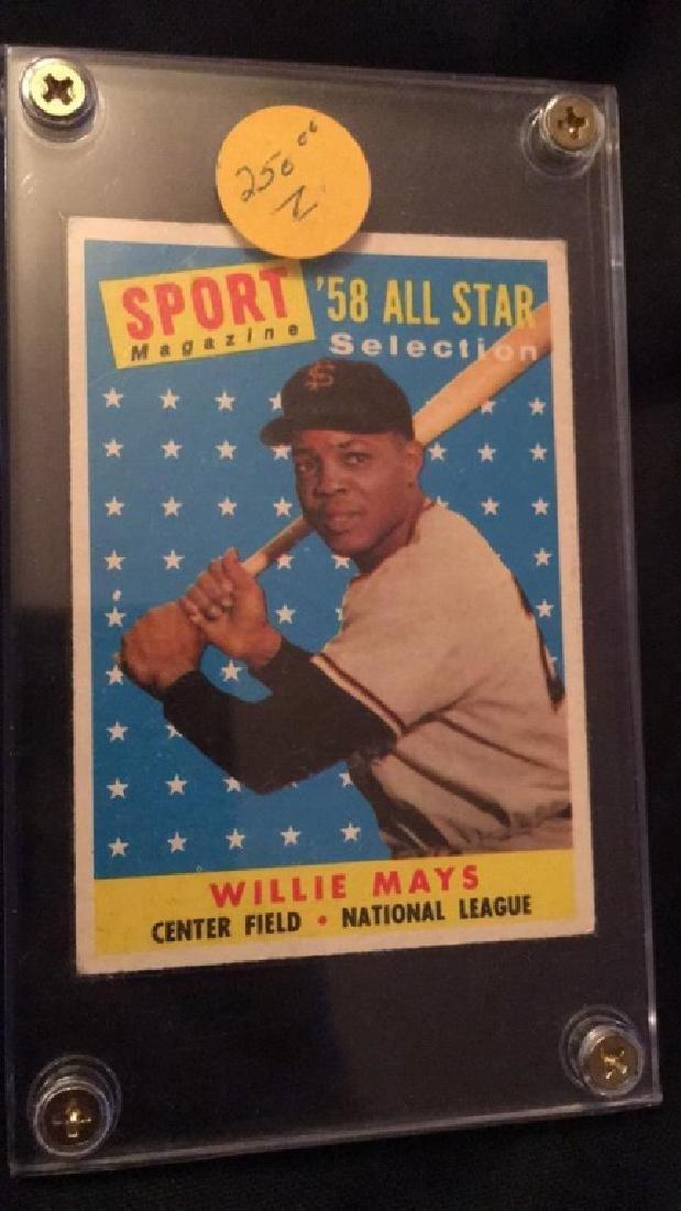 1958 Sport Magazine All Star Willie Mays