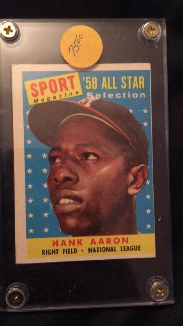 1958 Sport Magazine All Star Hank Aaron