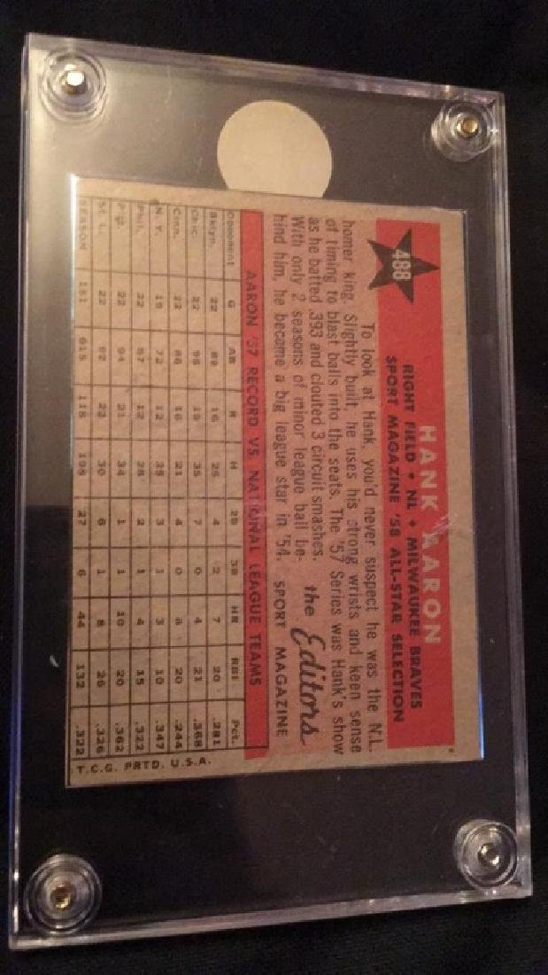 1958 Sport Magazine All Star Hank Aaron - 2