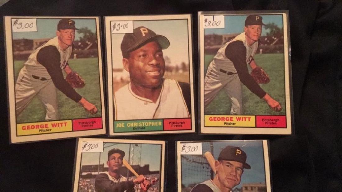 1961 Topps 5 card lot in nice shape - 2