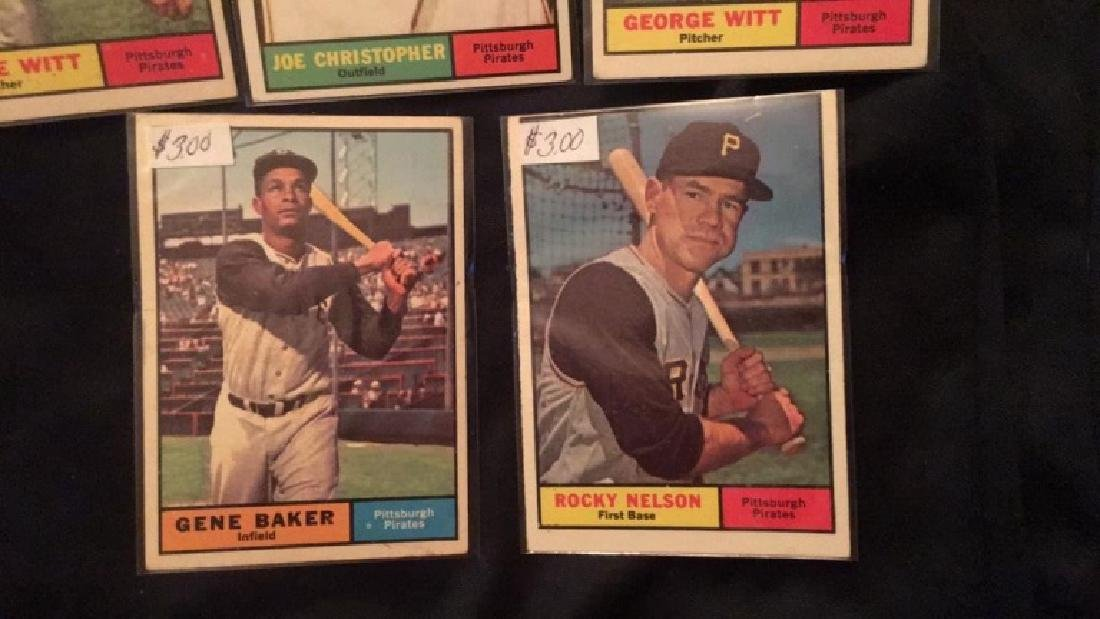 1961 Topps 5 card lot in nice shape - 3