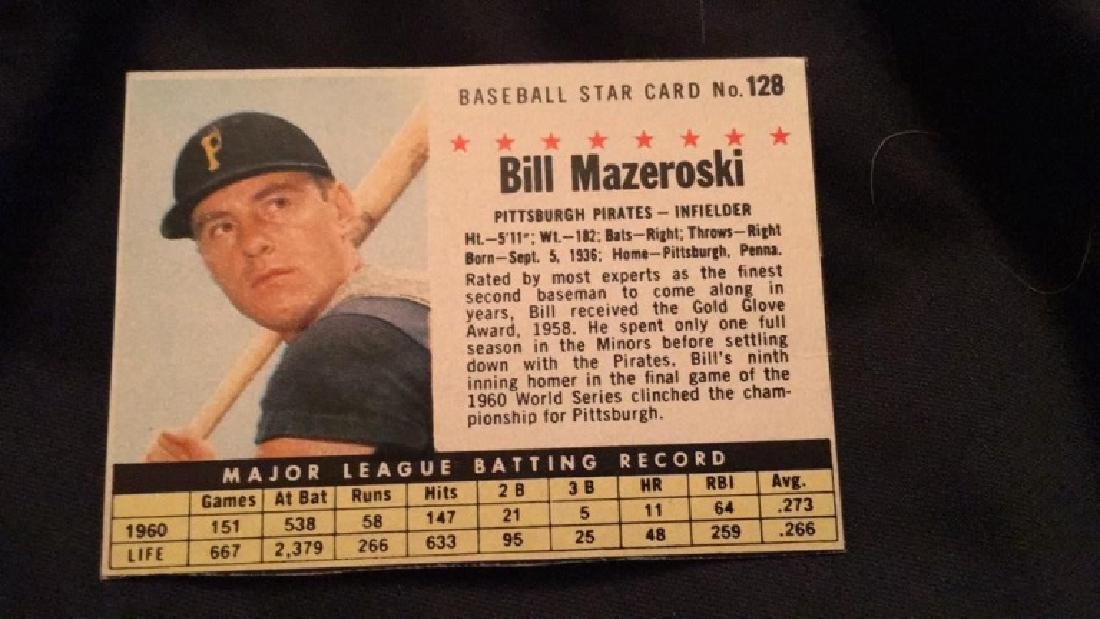 Bill Mazeroski 1961 post card