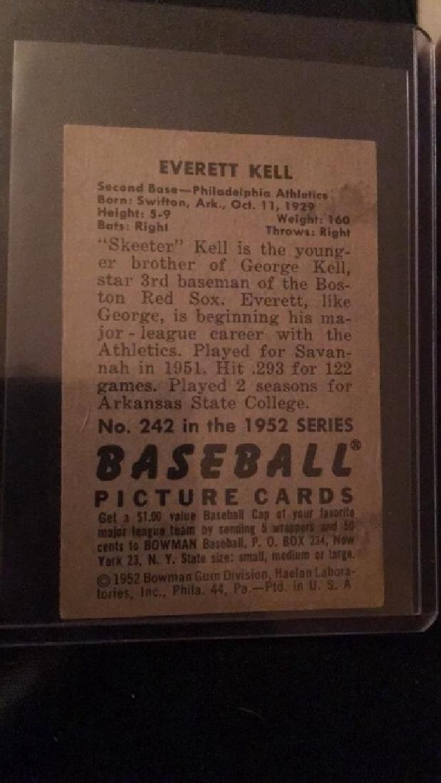 Everett George Kell 1952 Bowman - 3