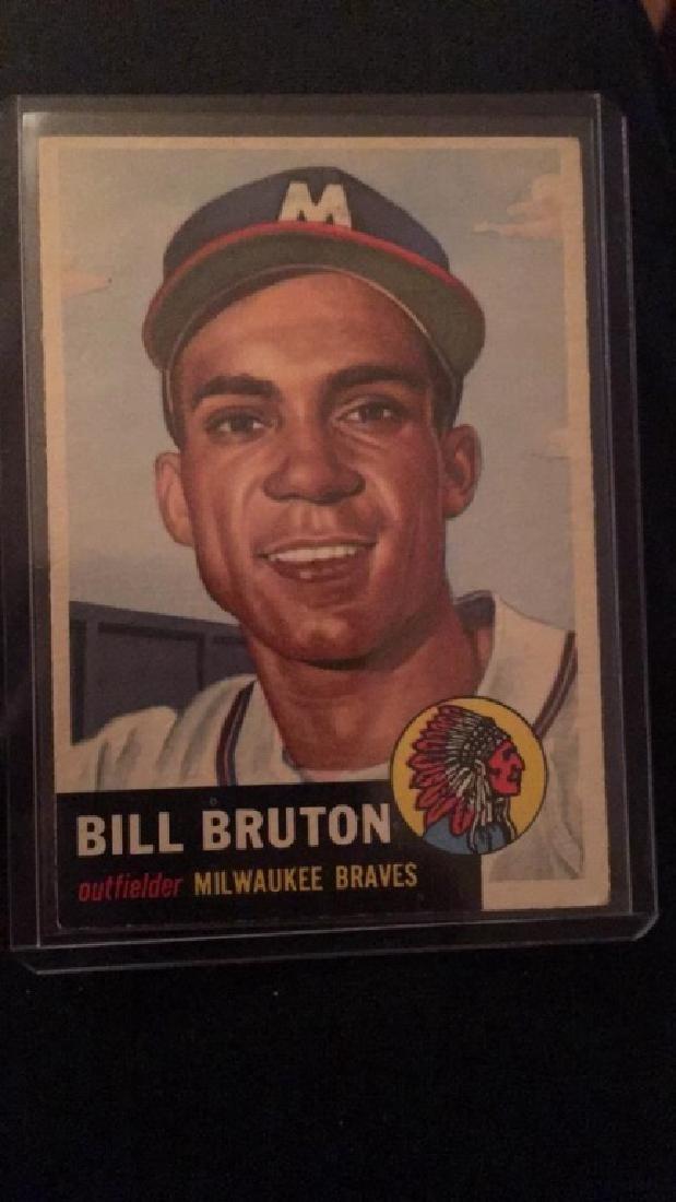 Bill Bruton 1953 Topps vintage Baseball Card
