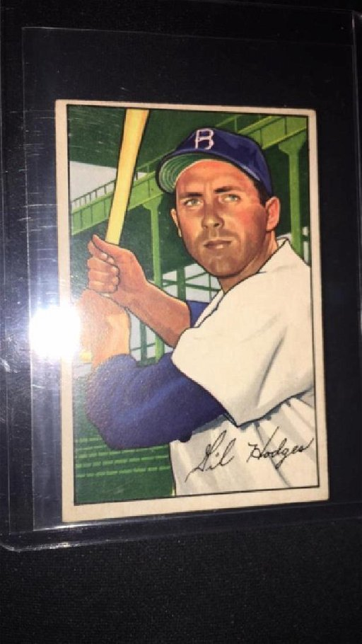 Gil Hodges 1952 Bowman Vintage Baseball Card Very