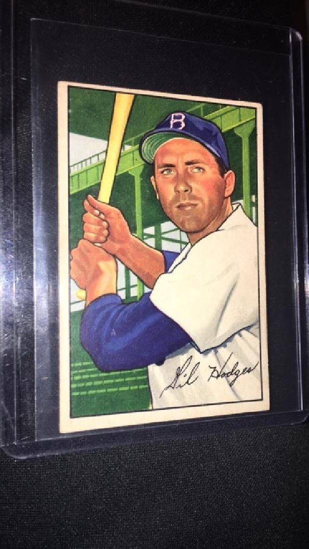 Gil Hodges 1952 Bowman Vintage Baseball Card very - 2