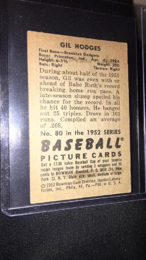 Gil Hodges 1952 Bowman Vintage Baseball Card very - 4