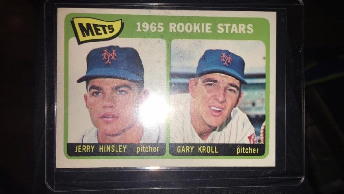 1965 tops hi number Gary Kroll Jerry Hinsley