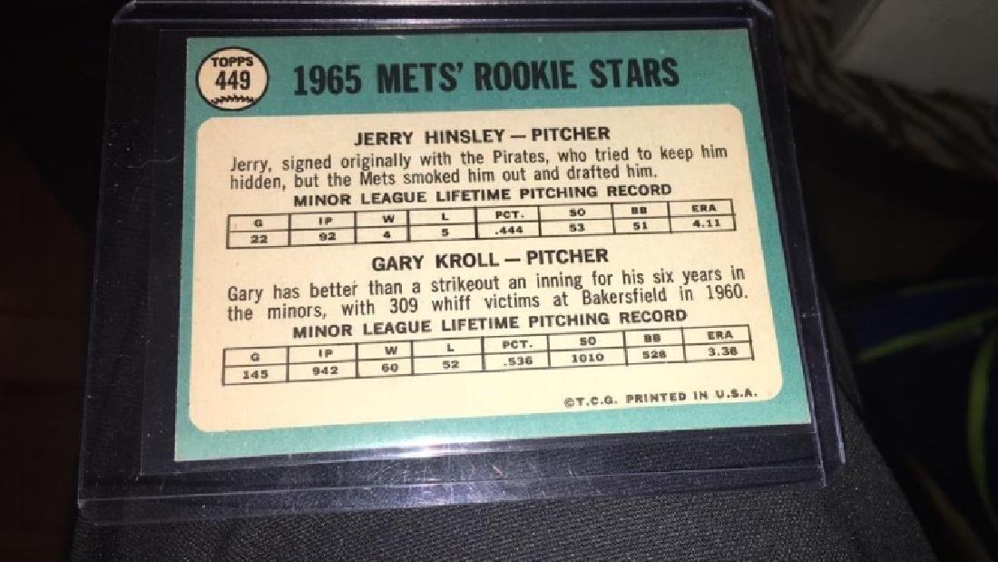1965 tops hi number Gary Kroll Jerry Hinsley - 3