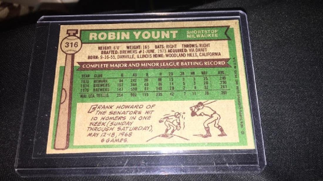 Robin Yount 1976 Topps - 2