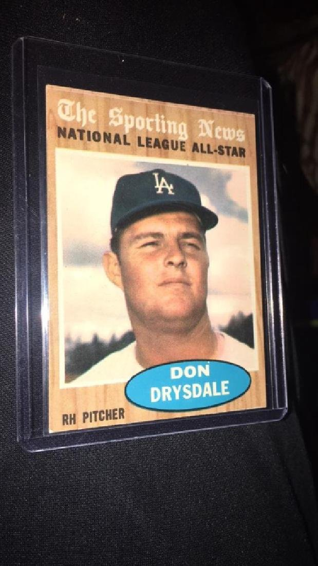 Don Drysdale 1962 Topps the sporting news