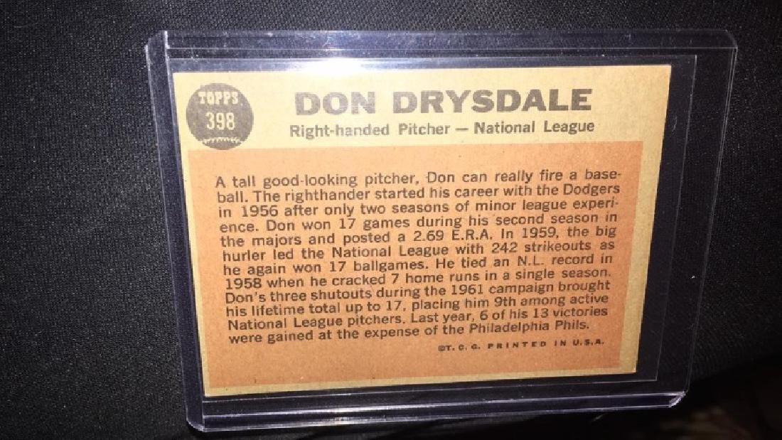 Don Drysdale 1962 Topps the sporting news - 2
