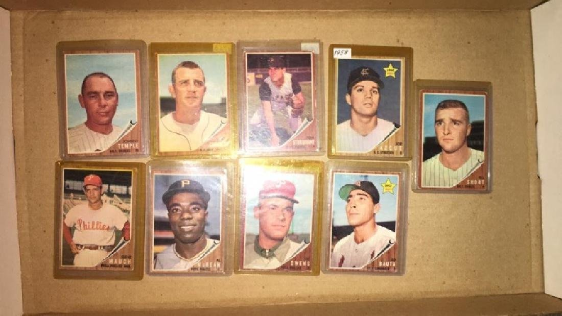 Lot of 9 vintage 1962 Topps