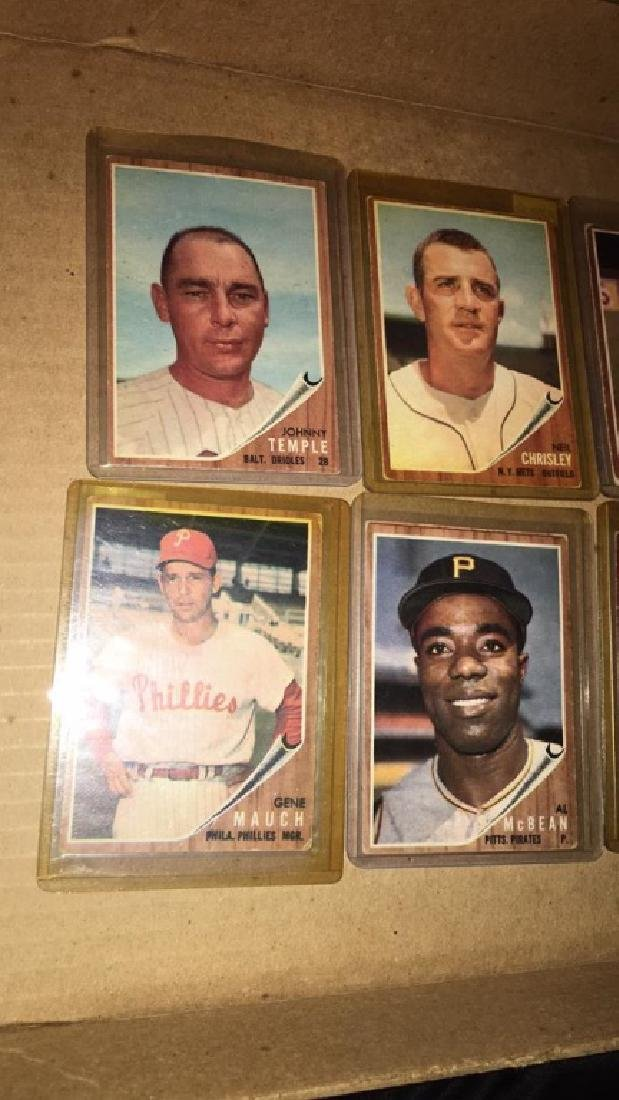 Lot of 9 vintage 1962 Topps - 2