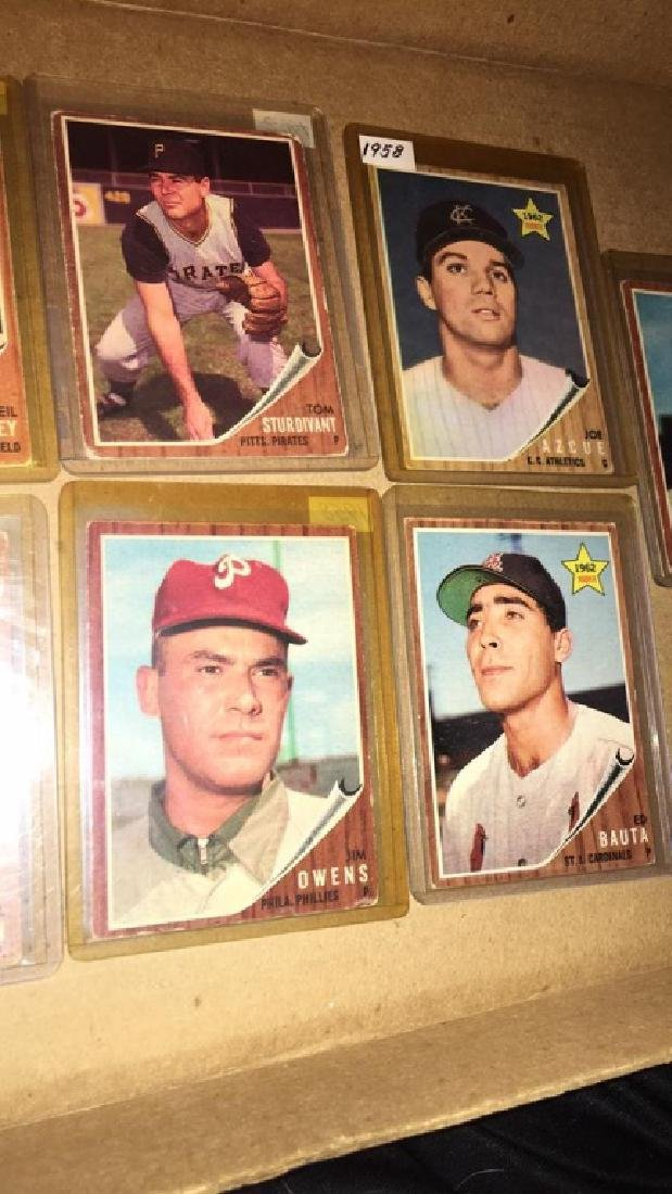 Lot of 9 vintage 1962 Topps - 3