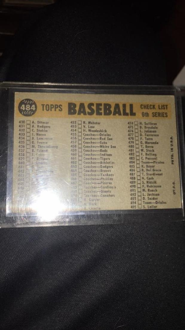 1960 Topps Pittsburgh Pirates team Card - 3