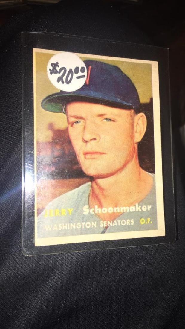 Jerry Schoonmaker 1957 Topps Vintage Card