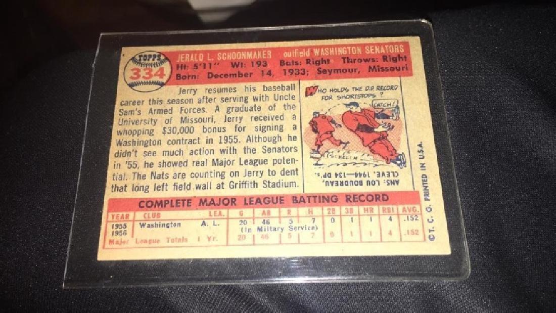 Jerry Schoonmaker 1957 Topps Vintage Card - 2
