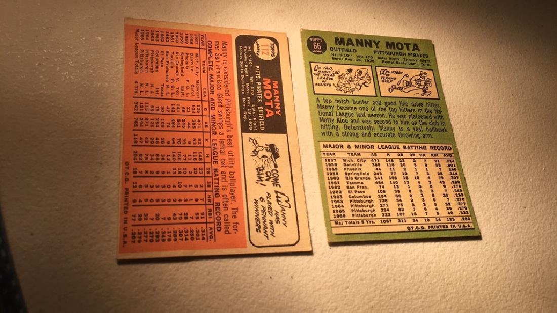 Manny Mota 1966 and 1967 Topps - 2