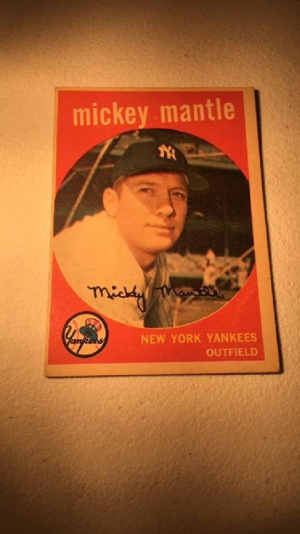 1959 Topps Mickey Mantle vintage in Really nice