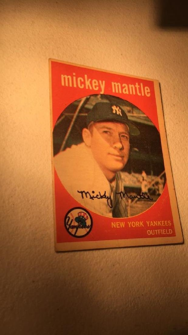 1959 Topps Mickey Mantle vintage in Really nice - 2