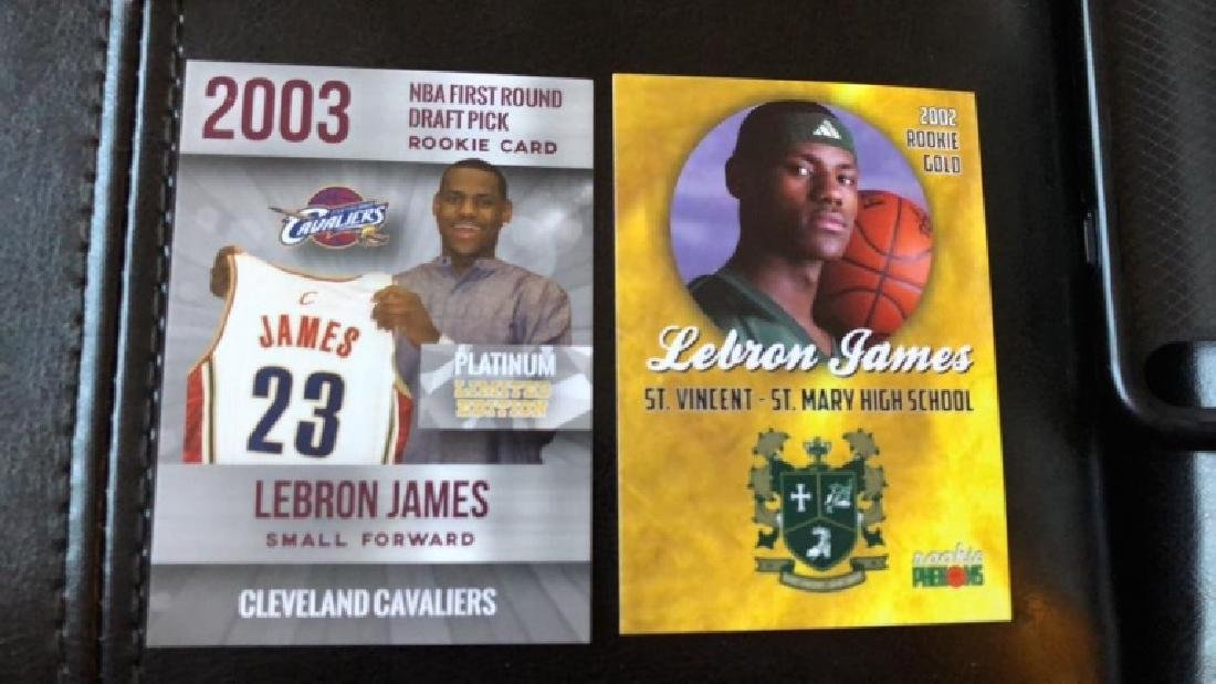 Lebron James Rookie phenoms first round draft RC
