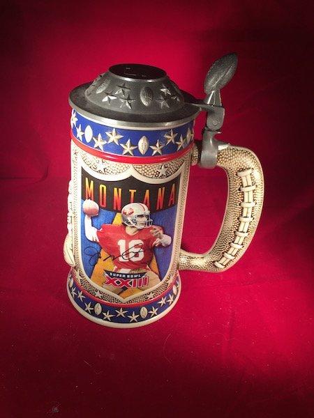 Collectible Joe Montana Porcelain Beerstein