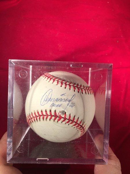 """Orlando Hernandez """"El Duque†Autograph Baseball"""