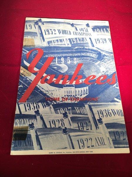 New York Yankees 1953 Yankee Stadium Home of the