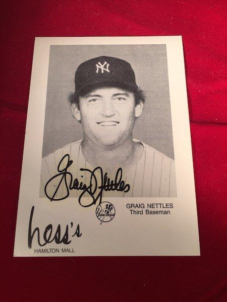 Craig nettles autographed photo