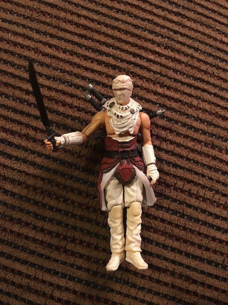 Vintage GI Joe Storm Shadow Figure with awesome Sword